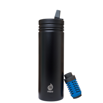 MIZU 360 Kit - M9A inkl. Adventurefilter und Trinkhalm Enduro Black LE