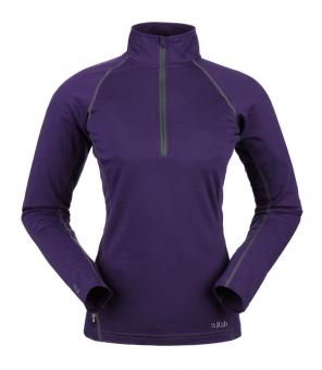 Rab Meco  165 Long Sleeve Zip Tee Women
