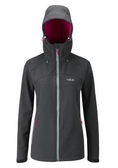 Rab Salvo Softshell Jacket Women Anthracite | L