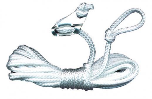 Zeltleine 3m lang, 3mm, weiß mit Heringsschlaufe (4 Stück)